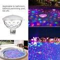 Плавающий подводный свет RGB погружной светодиодный диско свет светящийся шоу плавательный бассейн гидромассажная Ванна светильник для спа...