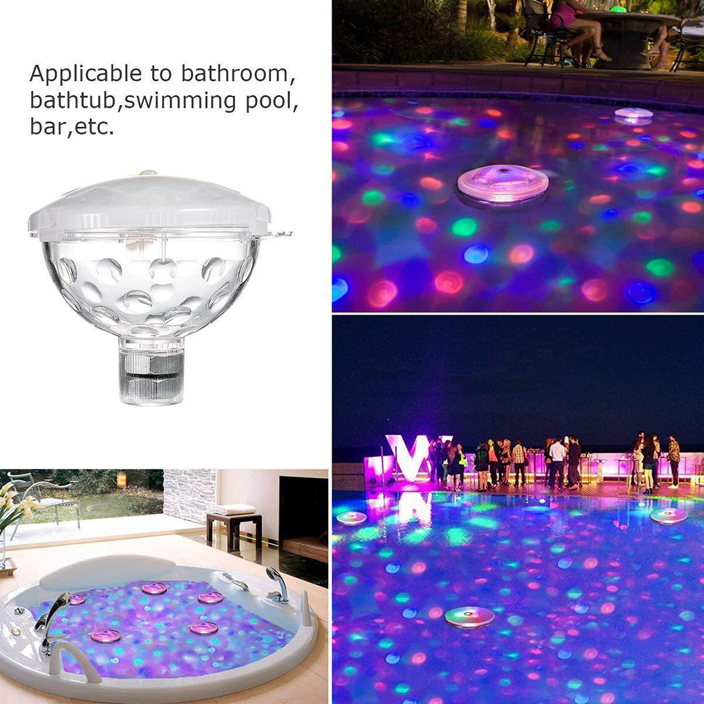 Floating Underwater Light RGB Submersible LED Disco Light Glow Show Swimming Pool Hot Tub Spa Lamp Bath Light