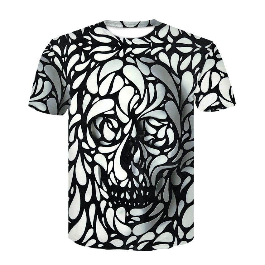 Cloudstyle New Summer Style 3d   t     shirt   Skull HD Print   t     shirt   Men Women Harajuku Short Sleeve Tee   Shirts   Fashion Clothing M-4XL