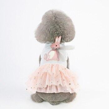 Summer Cute Star Sequin Dog Dress Dog Clothes Cozy Cotton Rabbit Tshirt Pet Cat Sundress Princess Party Small Dog Puppy Skirt