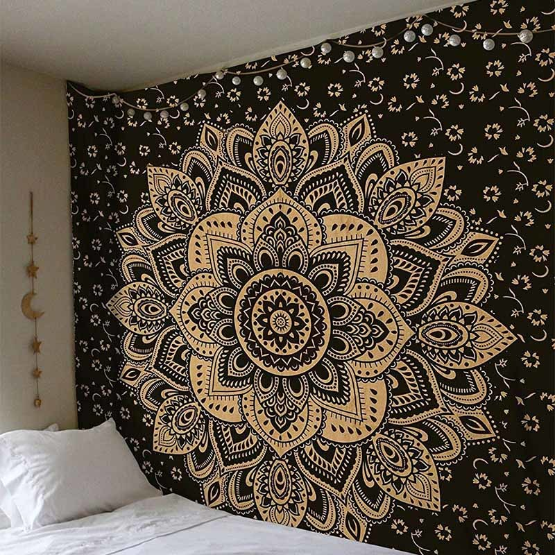 Indian Mandala Tapestry Hippie Colorful Wall Hanging Bohemian Bedspread Decor CA