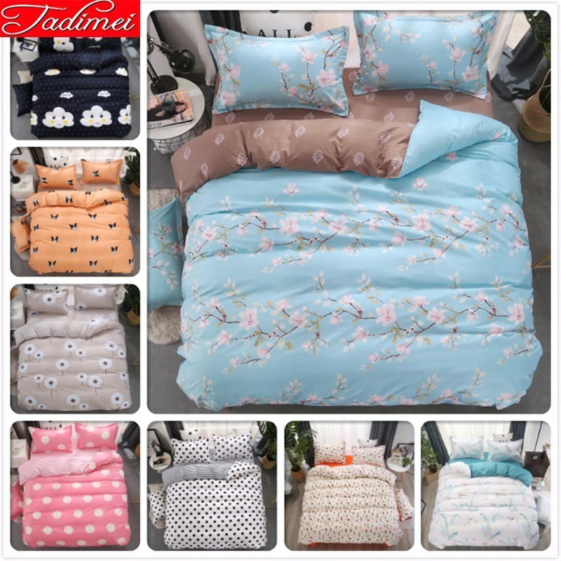 Blue Gray AB Double Side Duvet Cover Bedding Set Adult Kids Soft Cotton Quilt Comforter Blanket Bed Linen Single Queen King SizeBlue Gray AB Double Side Duvet Cover Bedding Set Adult Kids Soft Cotton Quilt Comforter Blanket Bed Linen Single Queen King Size