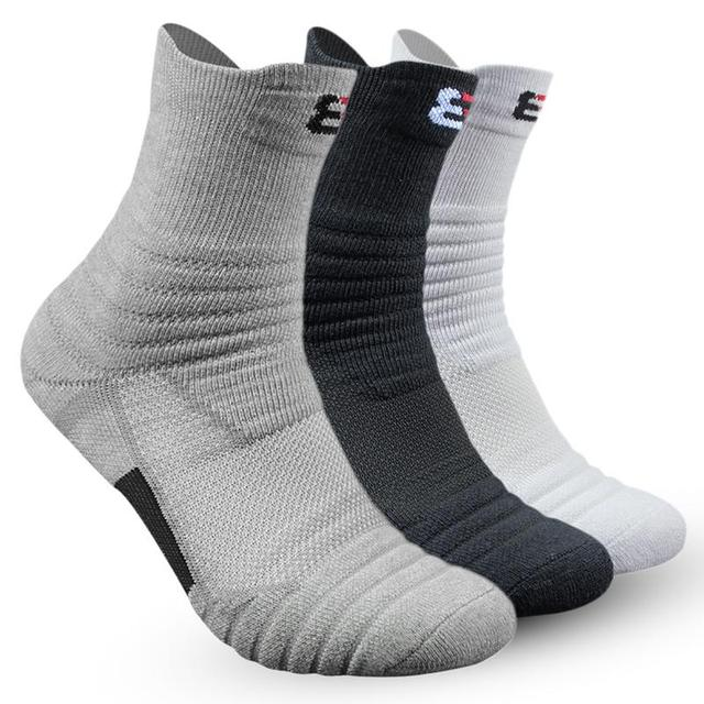 b0d962a202b 1 Pair Basketball Socks Man Long Thickening Towel Bottom Cotton Socks  Outdoors Run Badminton Tennis Middle