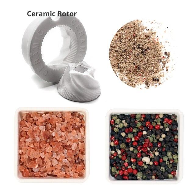 Wood Salt and Pepper Mill Set 2