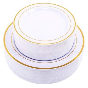 Image 1 - Gold ทิ้งแผ่น   ขนมหวาน/จานทองขอบจริงดูจีนสำหรับงานแต่งงาน, งานปาร์ตี้, catering, วันเกิด