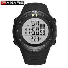 цена PANARS Top Brand Luxury Digital Watch Men Sport Alarm Stopwatch Water Resistant LED Men's Electronic Wrist Watches For Running онлайн в 2017 году