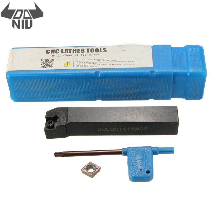 DANIU Right Hand 95 Degree SCLCR1616H09 16x100mm Boring Bar Lathe Turning Tool Holder With CCMT09T304 Insert Wrench