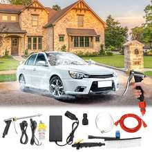 80W 12V DC Portable Car Washer High Pressure Auto Washing Machine Electric Clean Guns Device Vehicle Care Tools Kit Hairbrush