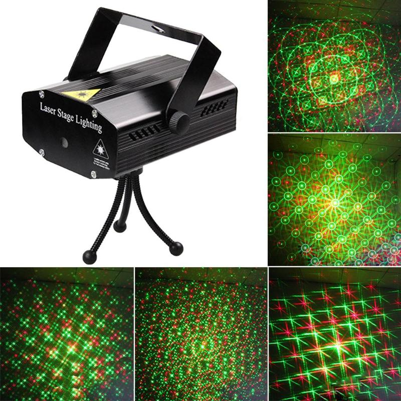 Mini Laser Projector Lamp KTV Club Stage Lighting Holiday Decoration Home LED RGB DJ Disco Party Light