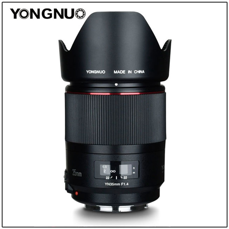 YONGNUO YN35MM F1.4 Lens Standard Wide Angle Lens for Canon Bright Aperture Prime DSLR Camera Lens for 600D 60D 500D 400D 5D II image