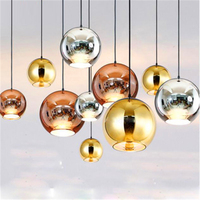 Nordic LED Pendant Lights Glass Pendant Lamps Loft Industrial Hanging Lamp Lamp Techo Colgante Lustre Luminaria Kitchen Fixtures