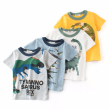 Children Summer Clothing Baby Boy T Shirt Cotton Dinosaur Short Sleeve T-shirt Kid Casual Sport 2-10Y