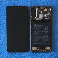 Оригинальная рамка lcd для 6,1 huawei P20 Pro Axisinternational ЖК дисплей + сенсорная панель дигитайзер для P20 Pro с батареей