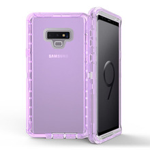3 in 1 Clear Robot Transparent Case Cover for