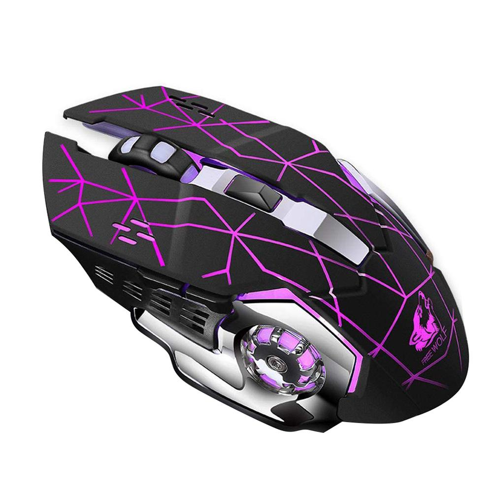 GUIGSI LED Light Adjustable DPI 2.4GHz 6 Buttons PC Laptop Gaming Wireless Mouse-in Mice from Computer & Office