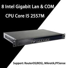 Брандмауэр Mikrotik Pfsense VPN устройство сетевой безопасности маршрутизатор ПК Intel Core I5 2557 M, [HUNSN RS14], (8Lan/2USB3. 0/1COM/1VGA)