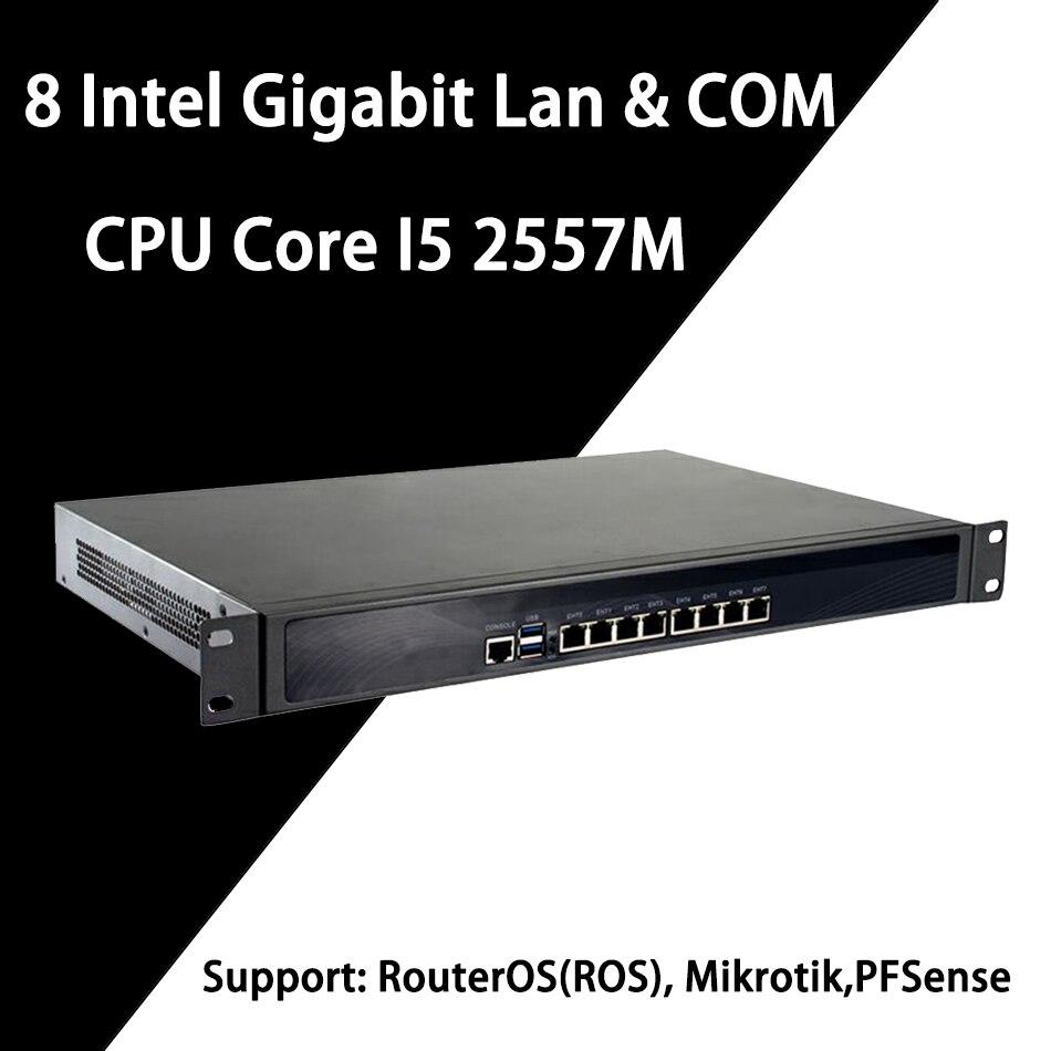 Mikrotik Pfsense Firewall VPN Appliance de Segurança de Rede Router PC Intel Core I5 2557 M, [HUNSN RS14], (8Lan/2USB3. 0/1COM/1VGA)