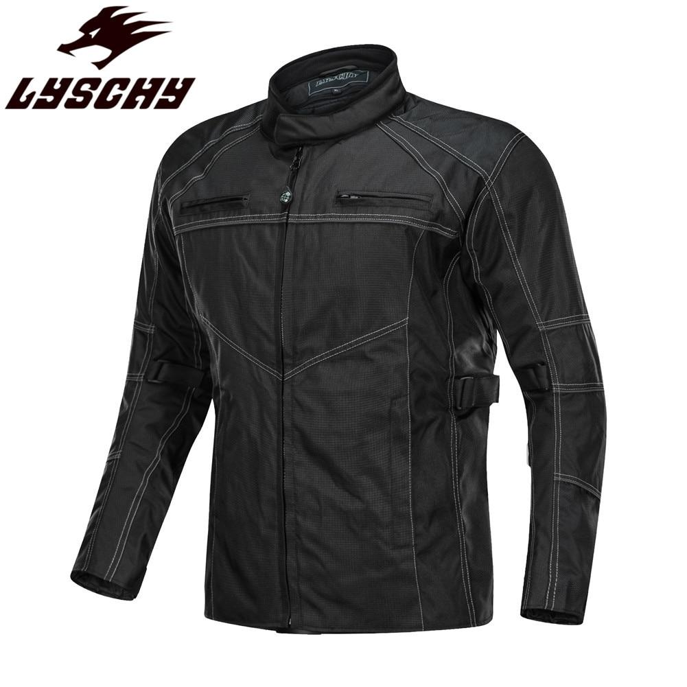 LYSCHY équitation Moto veste costume vêtements armure de corps homme réfléchissant manteau Protection gilet de Protection motos vestes