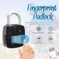 USB Aufladbare Smart Keyless Fingerprint Lock Wasserdichte bluetooth Fernbedienung Anti-Diebstahl Sicherheit Vorhängeschloss Tür Gepäck Fall Schloss