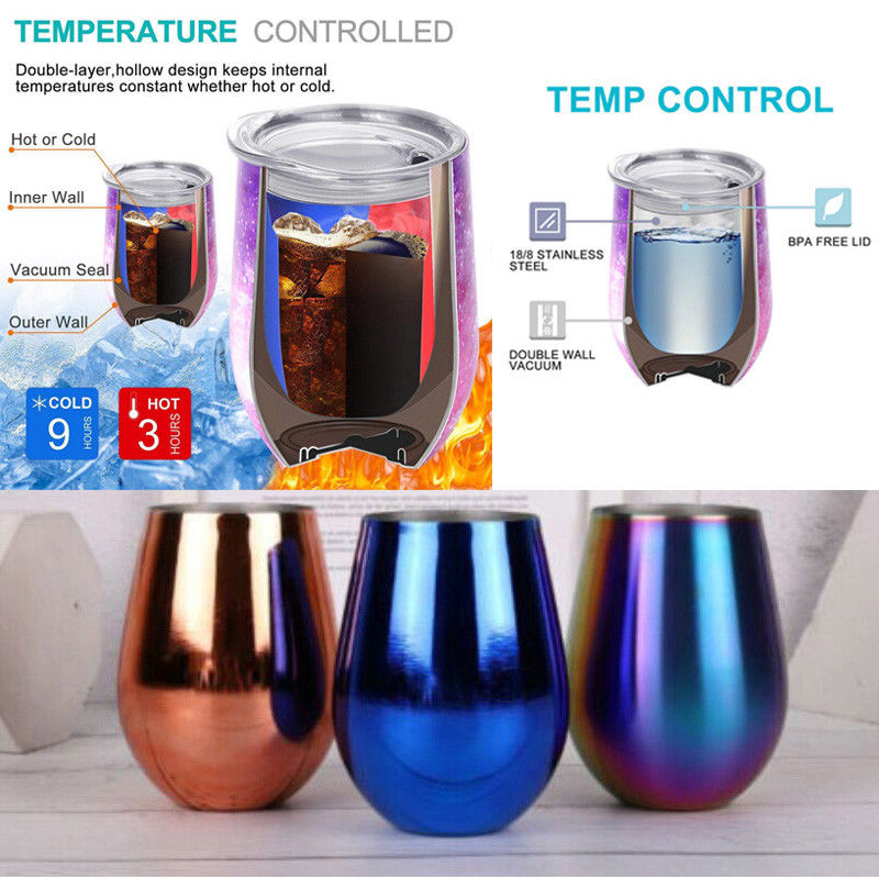 Permalink to Drinkware Egg Shape 12OZ Mug Cup Powder Coated 304 Stainless Steel Beer Wine Glass Tumbler Cups