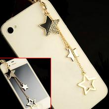 Star Pendant Headphones Dustproof Plug Caps Cell Phone Accessories 3.5mm Earphon