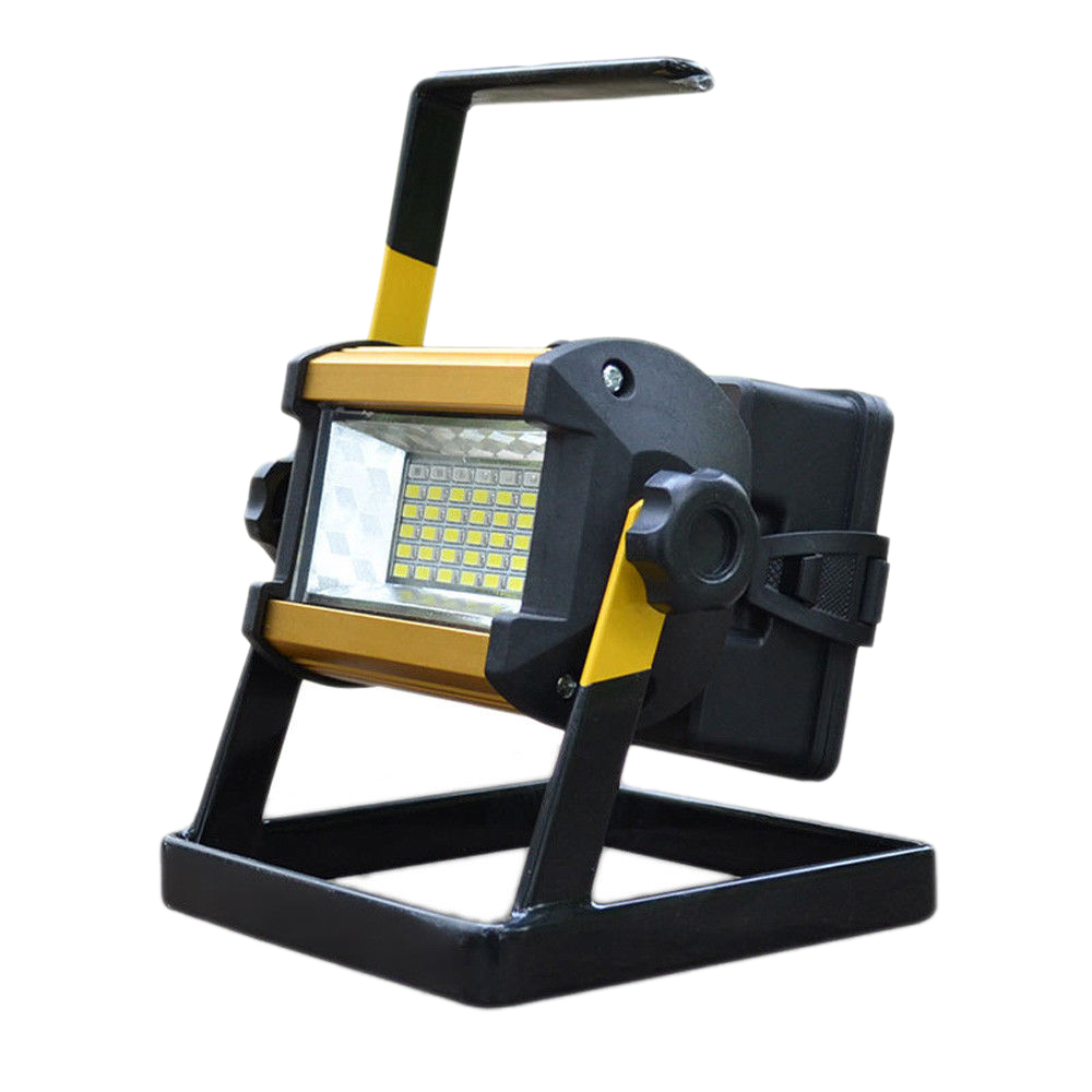 Obliging Lgfm-50w 36 Led Portable Rechargeable Flood Light Spot Work Camping Fishing Lamp Eu Plug Cycling