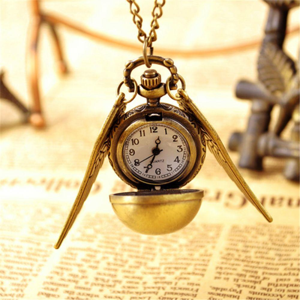 Watches Fanala Pocket Watch 2018 Vintage Punk Steampunk Pendant Chain Necklace Watch Women Quartz Watch Wing Shape Fast Shipping Refreshing And Enriching The Saliva
