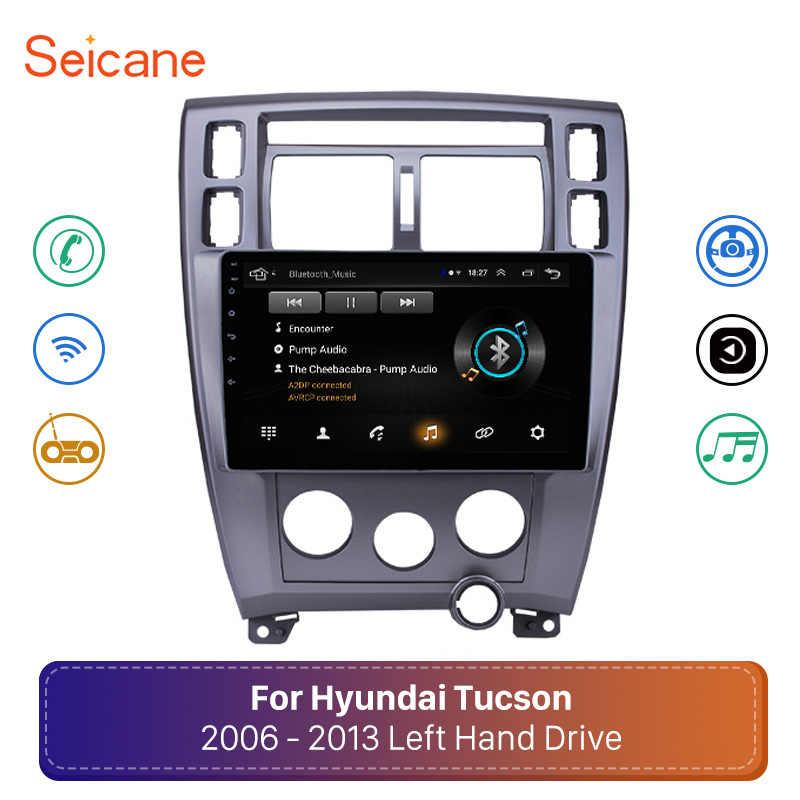 "Seicane アンドロイド 8.1 10.1 ""ヒュンダイツーソン LHD 2006 2007 2008 2009-2013 2Din GPS マルチメディアラジオステレオ"