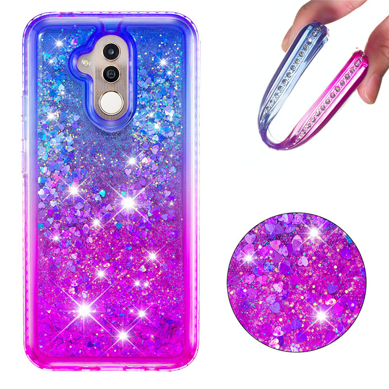 Huawei Mate 20 Pro Case Mate20 Diamond Glitter Shiny Silicone TPU Cases For Huawei Mate 20 Lite Liquid Dynamic Quicksand Cover in Fitted Cases from Cellphones Telecommunications
