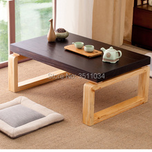 Nuevo artículo, mesa de madera antigua de estilo asiático, patas plegables, muebles rectangulares para sala de estar, Banco largo, mesa baja de centro de madera