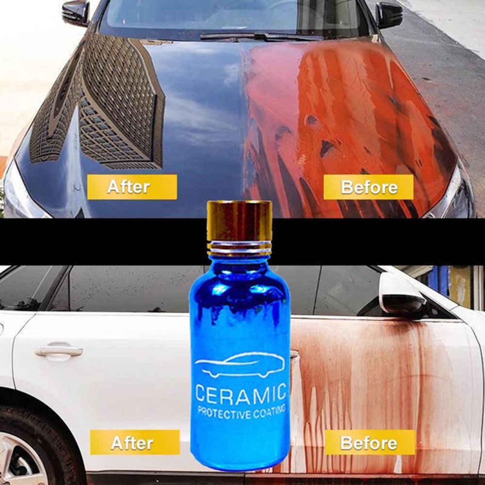 Hydrophobic Glass Coating Liquid Ceramic Protection Coating For Car Paint Care Hydrophobic Glass Coating Set Polysiloxane 9H