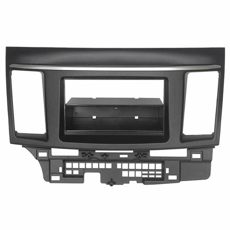 Double Din For Mitsubishi Lancer Fortis Radio Dvd Stereo Panel Dash Mounting Installation Trim Kit Face Frame Fascias     - title=