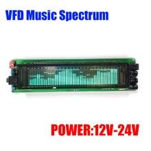 VFD FFTสเปกตรัมเพลงระดับตัวบ่งชี้RHYTHMจอแสดงผลLED VU Meterหน้าจอOLEDสำหรับ 12V 24Vรถmp3 เครื่องขยายเสียง