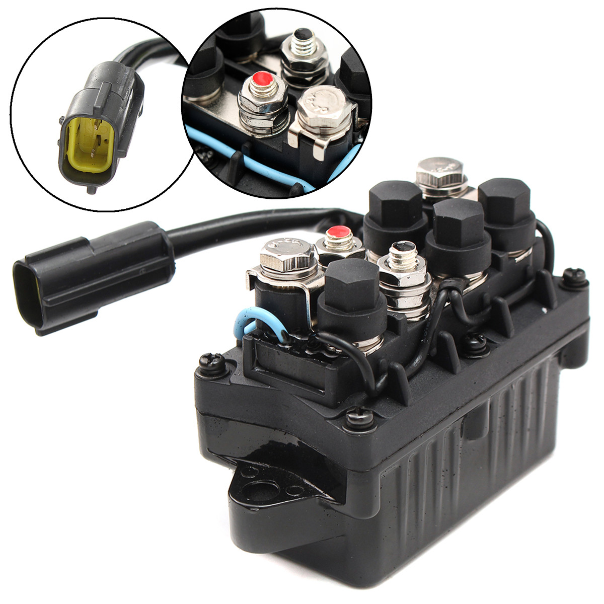 Boat Motor Power Trim Relay 2 Pin For Yamaha Outboard 4 Stroke Engine 40 90HP Aluminum