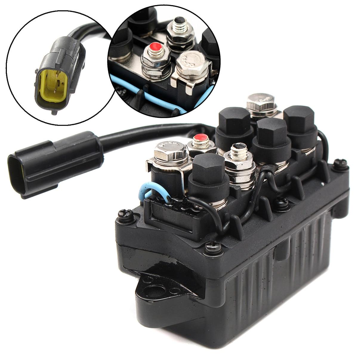 Boat Motor Power Trim & Relay 2 Pin For Yamaha Outboard 4 Stroke Engine 40 90HP Aluminum Bronze + Plastic IP67 Waterproof