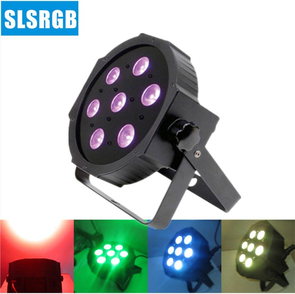 ADJ 7*10W 4in1 Quad LEDs (RGBA/RGBW) Mega Quad LED Par Profile DMX LED Par Can American Stage Light MINI LED Flat Par Wash Light