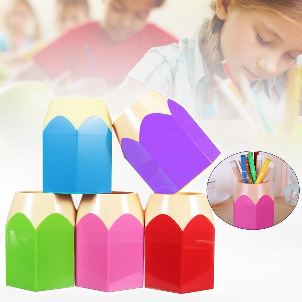 2018 New Creative Pen Vase Pencil Pot Makeup Brush Holder Stationery Desk Tidy Container Office Supplies BTZ1