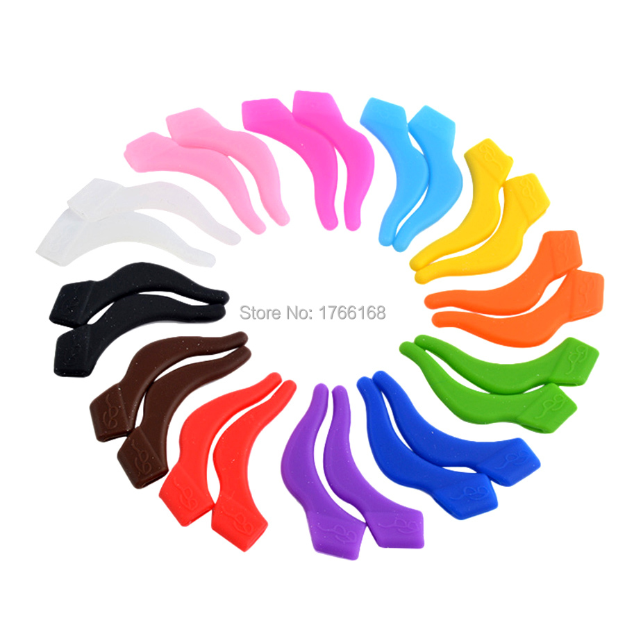 5pairs(10pieces) Colorful Silicone Anti-slip Holder For Glasses Accessories Ear Hook Sports Eyeglass Temple Tip Free Shipping