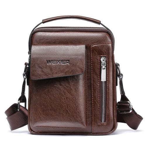New Trendy Men Fashion Crossbody Bag Small Casual Briefcases PU Leather Male Bag Versatile Zipper Men's Hand Crossbody Bag