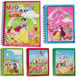 Монтессори живопись доска для рисования для детей игрушки книжка-раскраска каракули и Волшебное перо волшебное книга воды рисования