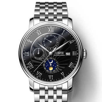 Switzerland LOBINNI Men Watches Luxury Brand Wristwatches Seagull Automatic Mechanical Clock Sapphire relogio masculino L1023-5 - DISCOUNT ITEM  40% OFF All Category