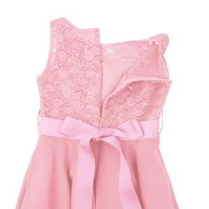 Image 5 - Iiniim robe princesse en dentelle pailletée pour filles, en mousseline de soie, sans manches, tenue princesse, tenue de concours de mariage, fête danniversaire