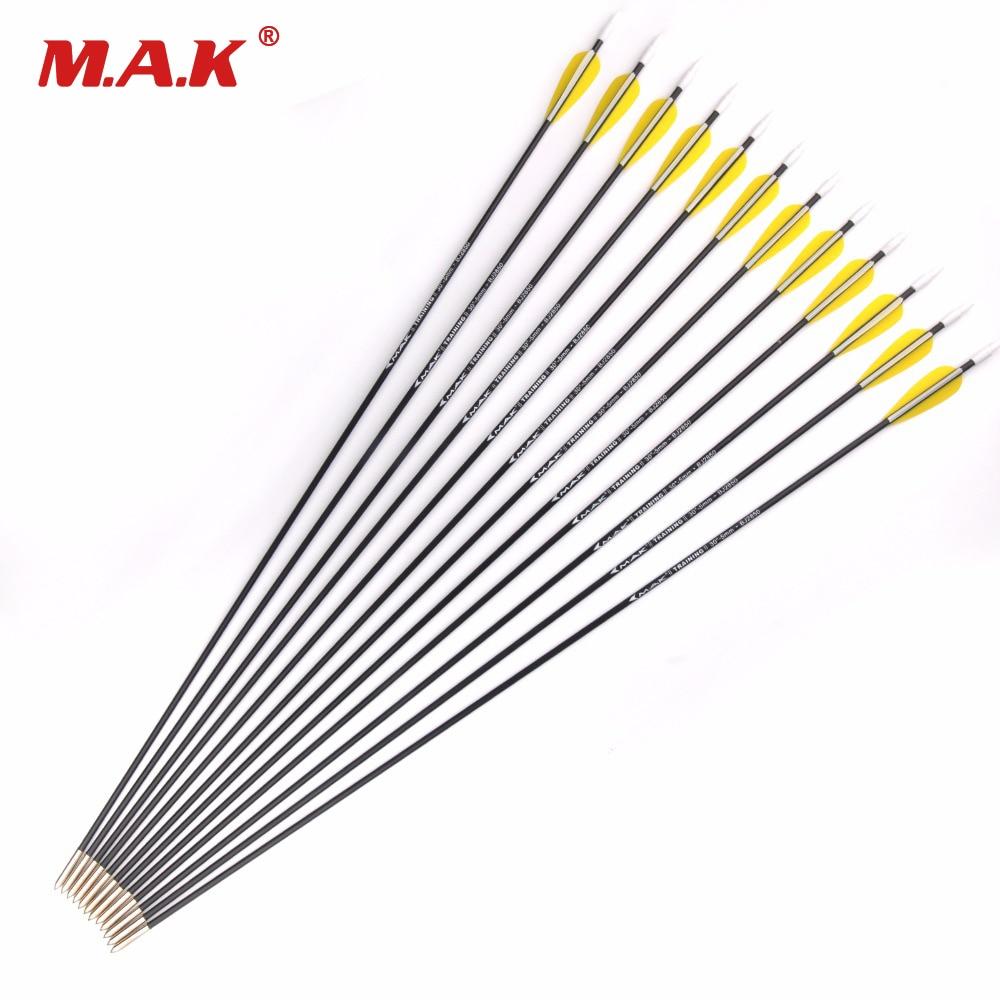 "US 12pcs 28/"" Carbon Arrows Spine1000 Archery Target Fit Compound bow Hunting"