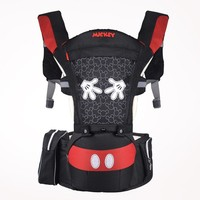 Disney Summer Breathable Ergonomic Carrier Backpack Portable Infant Baby Carrier Hipseat Heaps With Sucks Pad Toddler Carrier