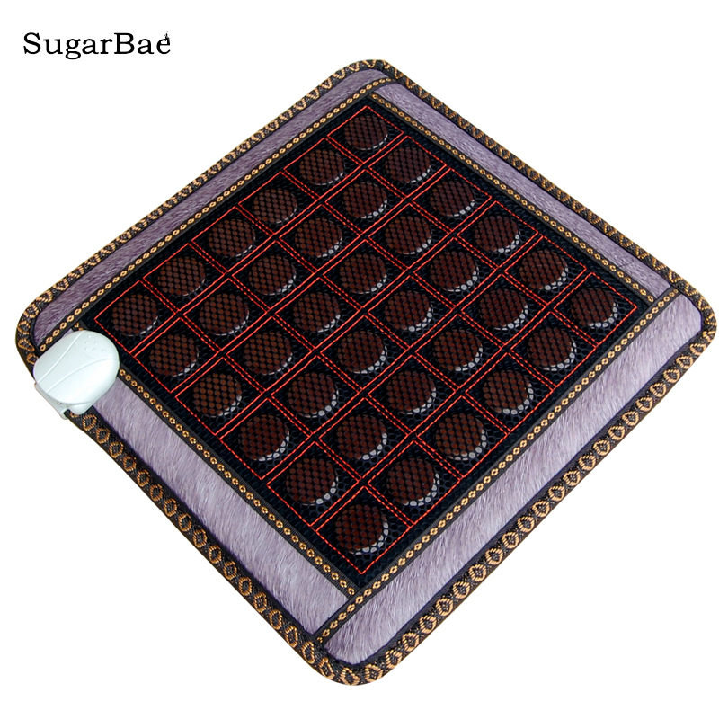 Health Tourmaline Infrared Jade Mat Heating Massage Cushion High Quality Made In China Free Shipping health care heating jade cushion natural tourmaline mat physical therapy mat heated jade mattress high quality made in china page 8