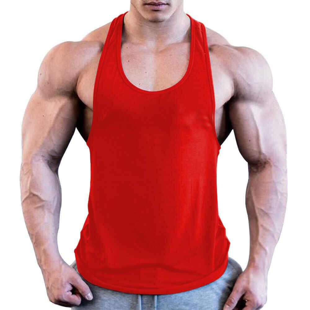 ジム男性筋肉ノースリーブシャツタンクトップボディービルスポーツフィットネスワークアウトベスト
