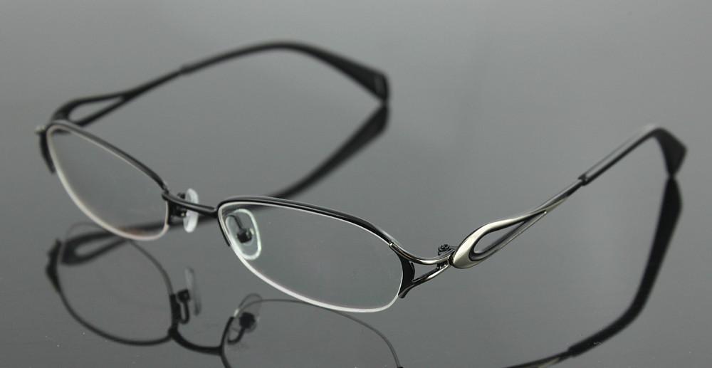 809acb4ae6 New Women s half rimless eyeglasses frame fashion optical eyewear ...