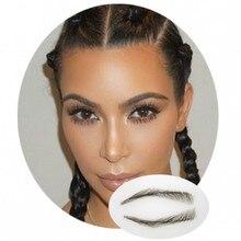 2018 Set Maquillaje Top Fashion Makeup Sets Hot! 1 Pair Perfect Eyebrow For Woman Eyebrows Shape False Extension Kim Kardashian