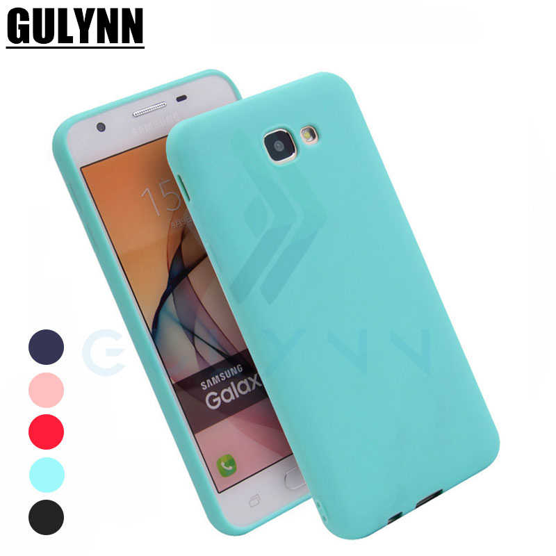GULYNN Case Candy Color TPU Silicone Case for Samsung Galaxy A3 A5 A7 A6 A8 J3 J4 J5 J7 J8 EU S8 S9 Prime Plus 2017 2018 Cover