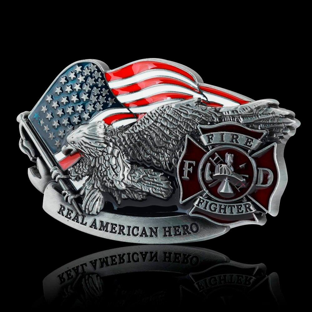 1PC Fashion Men Metal Belt Buckles Leathercraft Hardware Firefighter Zinc Alloy Buckle For Belt Width 3.3-3.48CM DIY Accessories
